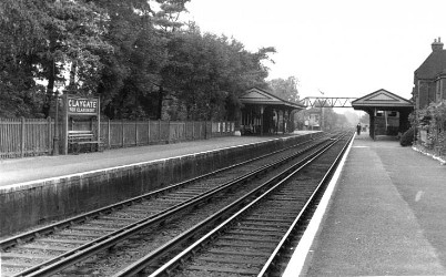 Station looking towards London
